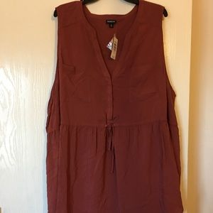 Brown Babydoll Blouse